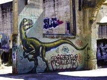 Искусство граффити в Калифорнии Стоковые Фото