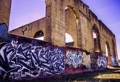 Искусство граффити в Калифорнии Стоковые Изображения