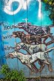 Искусство граффити в Сан-Франциско, Калифорнии Стоковое фото RF