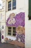 Искусство граффити города ValparaÃso в Чили Стоковые Изображения
