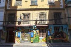 Искусство граффити города ValparaÃso в Чили Стоковое Изображение