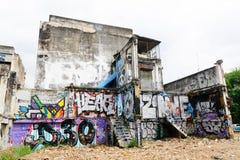 Искусство граффити покрашенное на старом здании развязности Стоковая Фотография RF