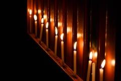 Искусство детали нерезкости пламени свечи Стоковое Фото