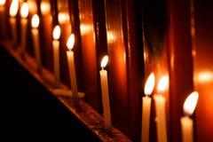 Искусство детали нерезкости пламени свечи Стоковые Фото