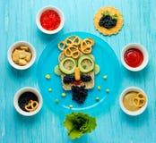 Искусство еды - сандвичи для папы Стоковое Изображение RF