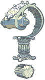 Искусство зажима вектора вопросительного знака римской архитектуры Стоковое фото RF