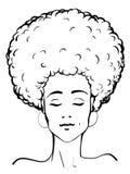 Искусство зажима дамы Афро бесплатная иллюстрация
