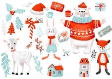 Искусство зажима сезона рождества зимы стоковое фото rf