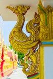 Искусство золотой статуи лебедя тайское Стоковое Изображение