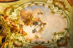 Искусство интерьеров церков StNicholas в Праге Стоковые Изображения RF