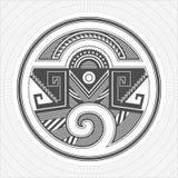 Искусство индейцев Пуэбло Северной Америки графическое Татуировка и печать Стоковые Изображения RF
