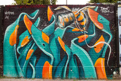 Искусство и граффити улицы в Берлине, Германии Стоковые Фотографии RF