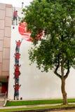 Искусство или граффити улицы Tiong Bahru на стене Стоковое фото RF
