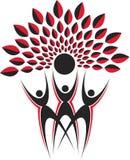 Логос дерева пар Стоковое Изображение