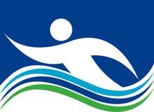 Логос заплывания Стоковое Изображение