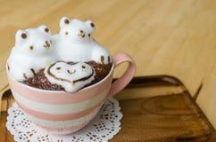 Искусство кофейной чашки и latte Стоковое Изображение