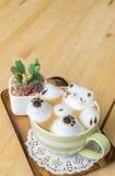 Искусство кофейной чашки и latte Стоковые Изображения RF