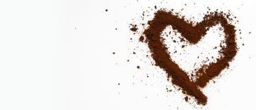 Искусство кофе влюбленности Стоковые Изображения RF