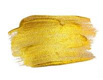 Искусство краски золота блестящее текстурированное изолированное на белизне Стоковое фото RF