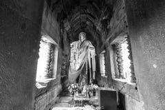 Искусство кхмера Будды старое - Таиланд Стоковые Фото