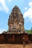 Искусство кхмера замка камня thom kok Sadok, Таиланд Стоковое фото RF