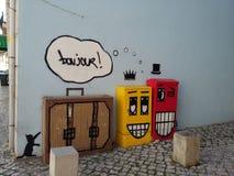 Искусство Лиссабон улицы Стоковое Изображение RF