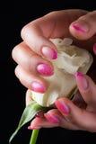 Искусство маникюра и ногтя Стоковая Фотография RF