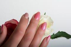 Искусство маникюра и ногтя Стоковое Фото