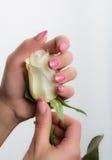 Искусство маникюра и ногтя Стоковые Изображения RF