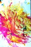Искусство малыша в красной, апельсине и желтом цвете стоковые фото