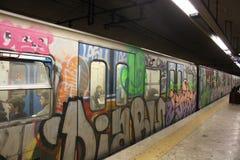 Искусство метро Рима подземное, стоковое фото