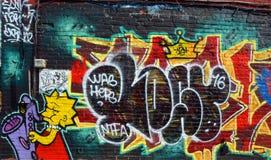 Искусство Монреаль Лиза Симпсон улицы Стоковая Фотография RF