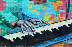 Искусство Монреаль улицы Стоковая Фотография