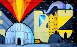 Искусство Монреаль улицы Стоковые Изображения