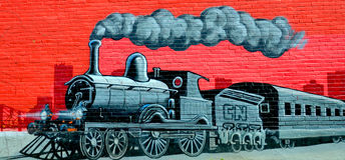 Искусство Монреаль улицы стоковое фото rf