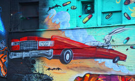 Искусство Монреаль улицы Стоковая Фотография RF