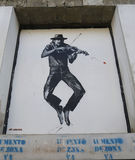 Искусство настенной росписи аэрозолем Jef в Ushuaia, Аргентине Стоковое Изображение RF