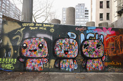 Искусство настенной росписи в более низком Ист-Сайд в Манхаттане Стоковые Изображения
