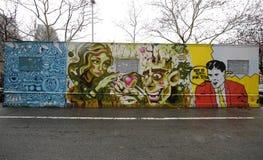 Искусство настенной росписи в более низком Ист-Сайд в Манхаттане Стоковая Фотография RF