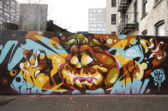Искусство настенной росписи в более низком Ист-Сайд в Манхаттане Стоковые Фотографии RF