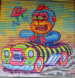 Искусство настенной росписи в меньшей Италии в Манхаттане Стоковые Изображения RF
