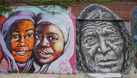 Искусство настенной росписи в разделе Astoria в ферзях Стоковые Изображения RF