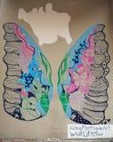 Искусство настенной росписи в Soho в Манхаттане Стоковые Фото