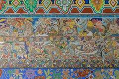 Искусство настенной росписи мозаики на стене Station's улицы щепок, центральном Ра Стоковые Изображения