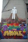 Искусство настенной росписи на более низком Ист-Сайд в Манхаттане Стоковое Фото