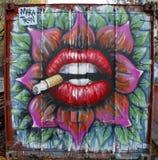 Искусство настенной росписи на бульваре Хьюстона в Soho Стоковое Изображение