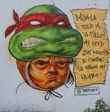 Искусство настенной росписи на бульваре Хьюстона в Soho Стоковые Фото