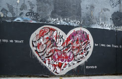 Искусство настенной росписи на бульваре Хьюстона в Soho Стоковое Изображение RF