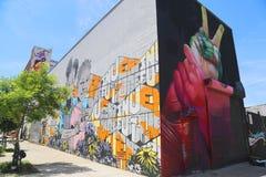 Искусство настенной росписи на восточном Williams в Бруклине Стоковое Изображение