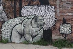 Искусство настенной росписи на восточном Williams в Бруклине Стоковая Фотография